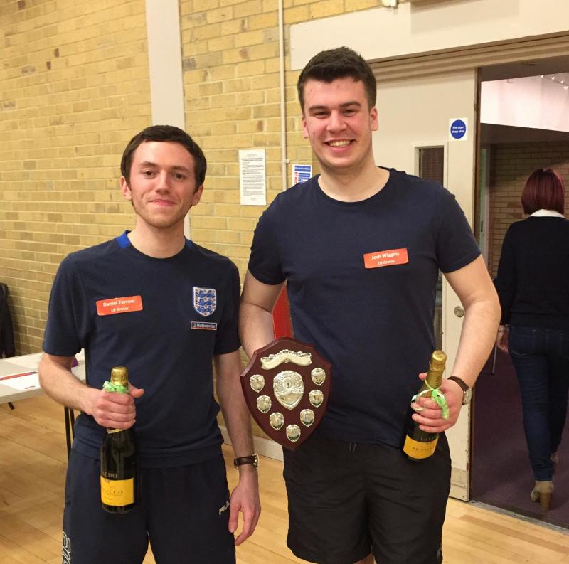 Daniel Farrow & Josh Wiggins of LB Group - Winners of the DC Table Tennis Tournament 2016)